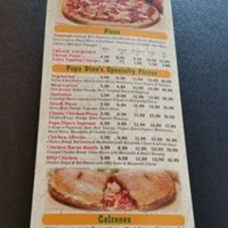 Edmond, OK: Menu- Pizza & Calzones
