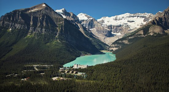 Banff National Park, Canada: Lake Louise Aerial View