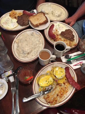 Kenai, AK: Louie's breakfast...eggs benedict, biscuits and gravy, eggs, reindeer sausage and bloody mary's!