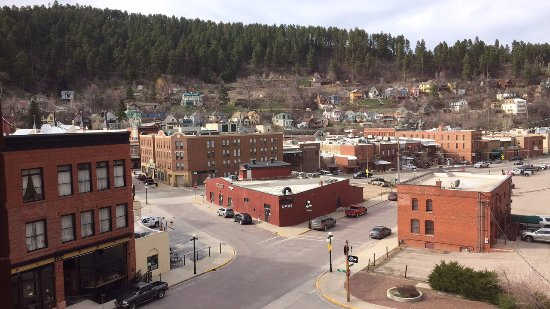 The View from our room at the Deadwood Dick's Hotel.