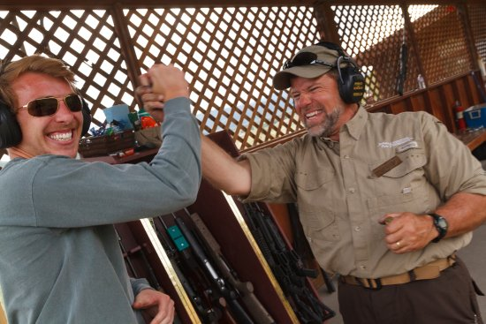Jackson Hole, WY: Yay!  A hit with the 50 BMG at over 1/4 mile!