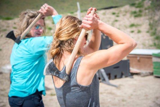 Jackson Hole, WY: Yes, we even throw tomahawks!