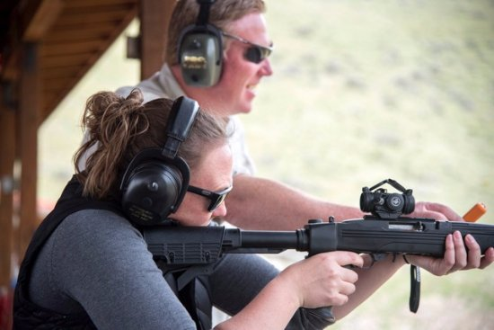 Jackson Hole, WY: Tactical-Defense style 10/22, shooting guns
