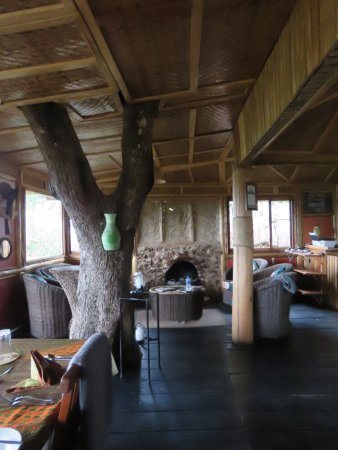 Nkuringo Bwindi Gorilla Lodge: The lodge - common area