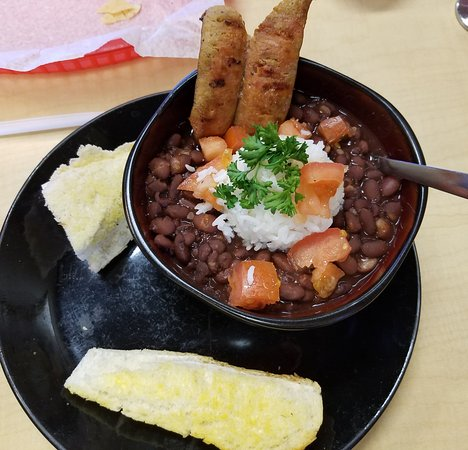 Swifton, Арканзас: Red Beans and Rice! Delicious and enough for two meals. That's sausage sticking up!