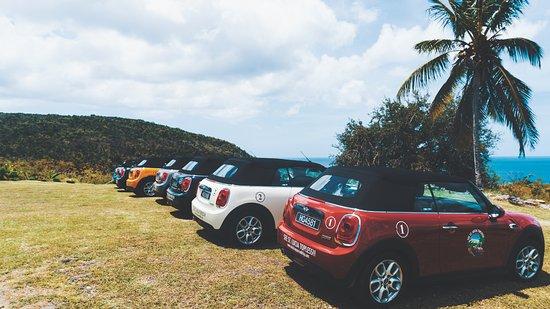 Mini Cooper Road Trip Enjoying The Scenic Views