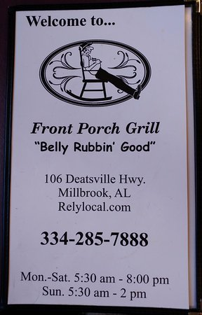 Whiteboard With Daily Specials Picture Of Front Porch Grill Millbrook Tripadvisor