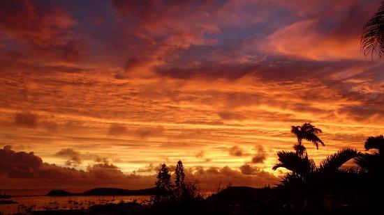 Mont Coffyn : Magnifique coucher de soleil