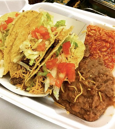Los Lunas, NM: Our Famous Taco Plate!
