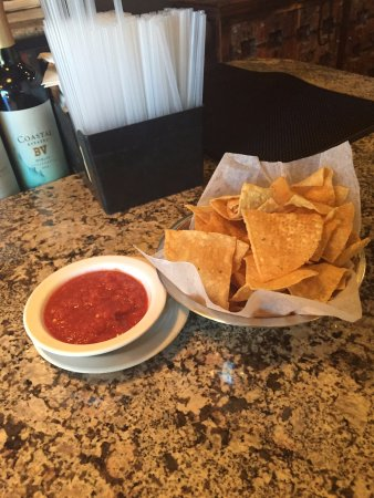 Southlake, TX: chips and salsa upon arrival.