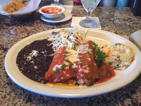 Southlake, TX: shrimp enchilada dinner. delicious.