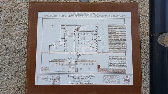 Perdifumo, Italia: pianta del convento e della basilica