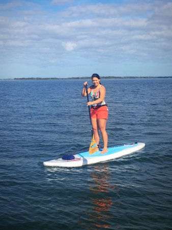 Fernandina Beach, FL: Great day for SUP lessons