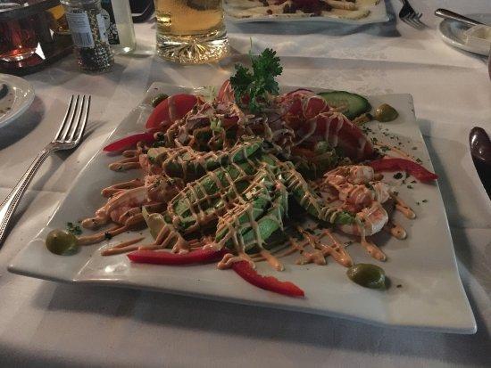 Restaurante Terraza del Gato : Shrimps mit Avoccado, sehr lecker