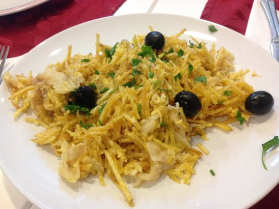 Porto District, Portugal: Bacalao with potato fritters