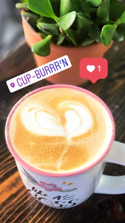Dickinson, ND: Cup-Burrr'n offers Delicious Gourmet Waffles, Sweet N' Savory.Fresh Coffee and Frappes, Discover