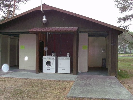 Newfield, NY: Interior restroom/shower/laundry building