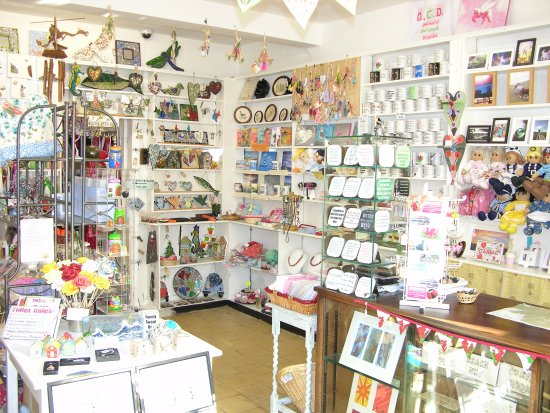 Beaumaris, UK: Inside view of our little shop, call in and see us soon.