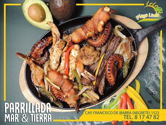 Deliciosa parrillada Mar y Tierra - Picture of Playa Linda Seafood ...