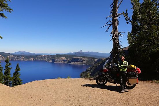 La Pine, OR: Crater Lake an easy 1.25 hr ride from DiamondStone Guest Lodges / Motofantasy.