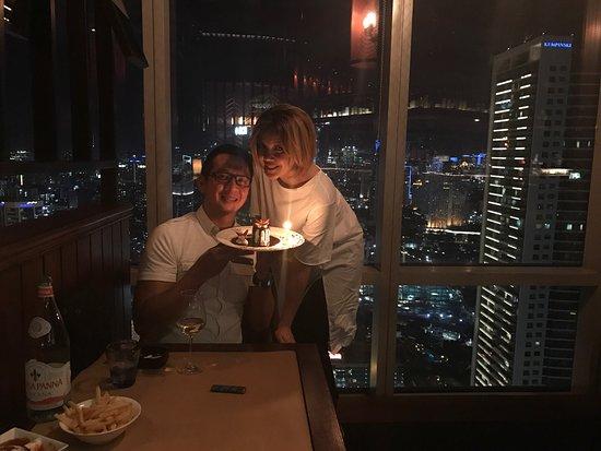 Birthday Candle Light Dinner Picture Of Altitude Grill Jakarta Tripadvisor