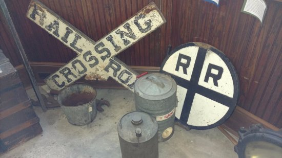 Suffolk, VA: Old railway items on display