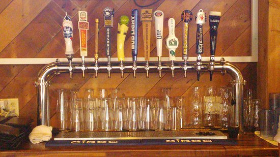 Monona, WI: Good selection of taps...bartender was awesome.