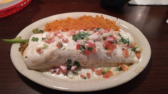 "MASSIVEly delicious ""Texas Burrito"" at Loco Burrito in Fremont, MI"