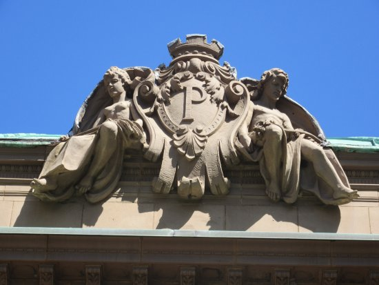 Pabst Mansion Exterior - Pabst Family Crest