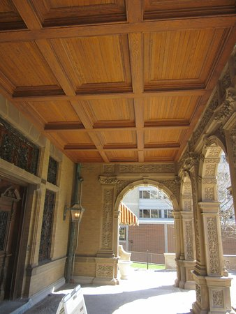 Pabst Mansion Exterior - Front Porch Ceiling