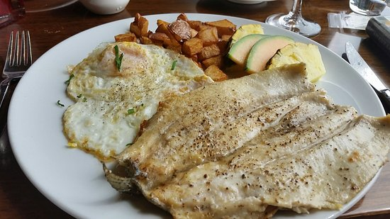 Lake Oswego, OR: Eggs and fresh trout Brunch Fare