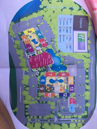 Holiday Inn Resort Orlando Suites - Waterpark: hotel map