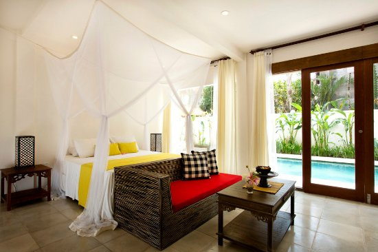 The Royal Palm Villa: Bedroom and view