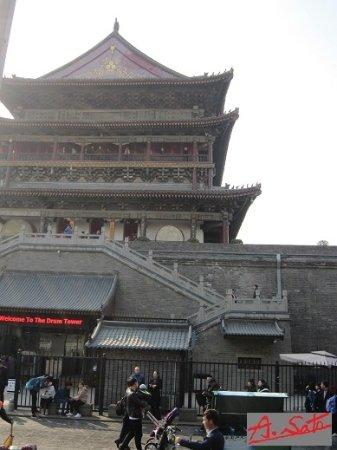 Xi'an Mosque : 鼓楼の裏手から入ります