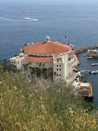 Catalina Island Casino: Beautiful views from the balcony