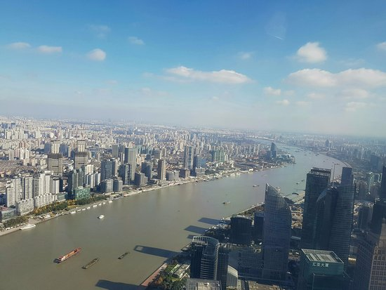 Oriental Pearl Tower (Dongfang Mingzhu): one of the views from the highest point