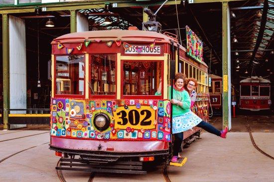 Bendigo Yarn Bomb Tram