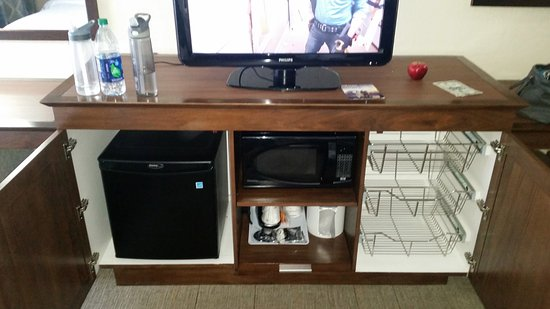 Carbondale, IL: TV stand, microwave, fridge, & storage
