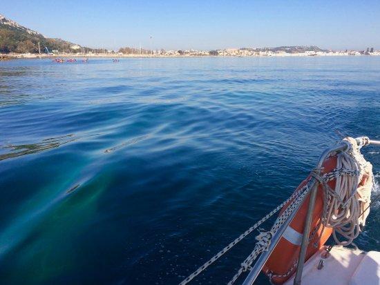 Sailing Center Marina Piccola: a view of Cagliari Marina from the boat.