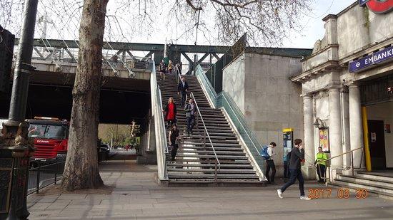 From Victoria Embankment Picture Of Golden Jubilee Bridges London