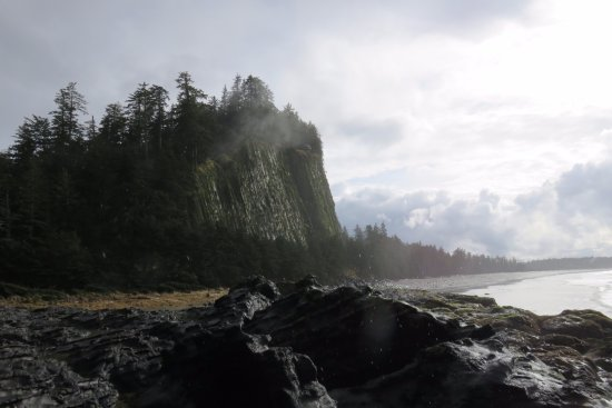 Queen Charlotte City, Canada: Blow Hole at Two hils