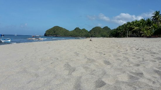 Takatuka Beach and Dive Resort : sauberer Strand und klares warmes Wasser