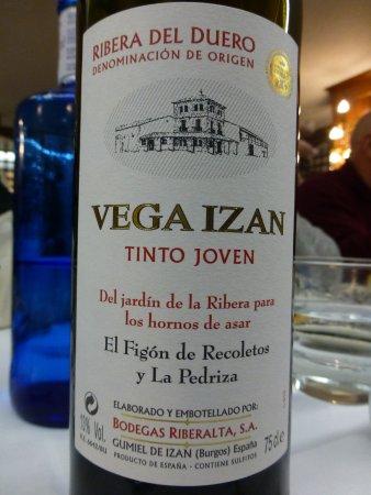 Restaurante Asador El Figon de Recoletos : Vino Ribera de la casa.