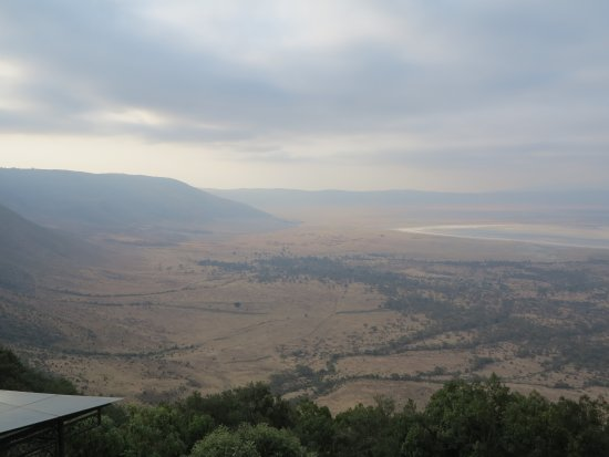 Ngorongoro Wildlife Lodge: View in Late Afternoon (Lake Magadi Is on the Right-Hand Side)