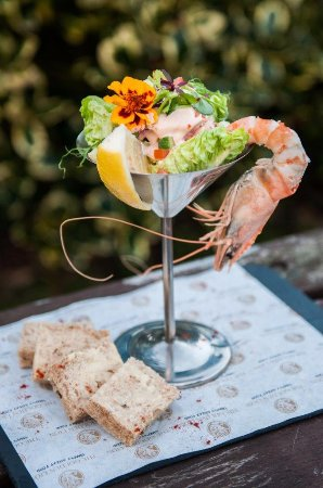 Magor, UK: Try this seafood cocktail...