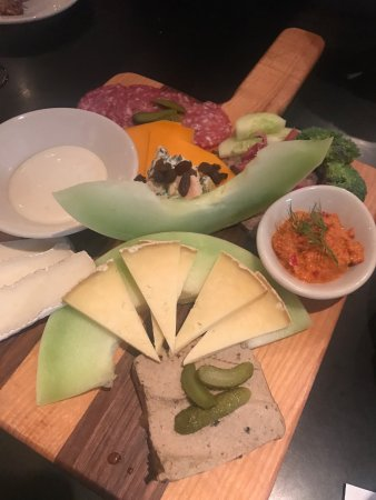 Gaulart & Maliclet French Cafe : meat and cheese and pate plate