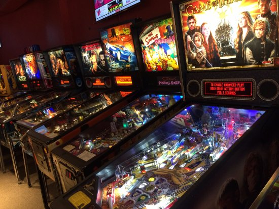Play new pinball machines like Game of Thrones and Walking