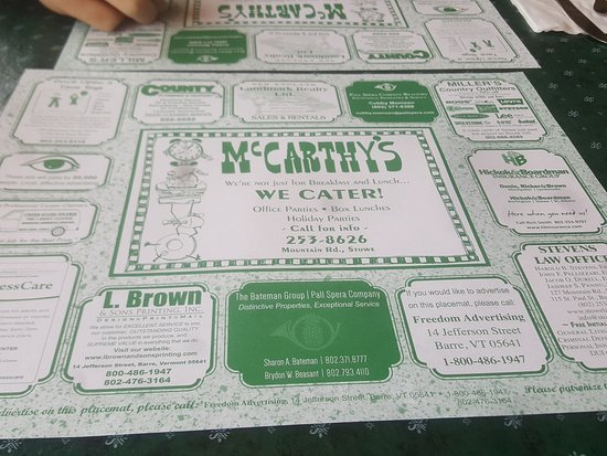 McCarthy's Restaurant : Great place