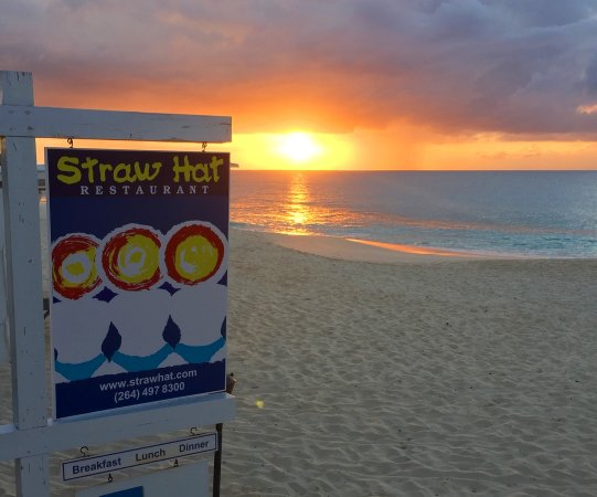 Straw Hat Restaurant: Sunset. Meads Bay. April 11, 2017