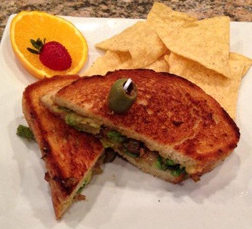 Linwood, NJ: Veggie grilled cheese three cheeses on a sourdough panini bread